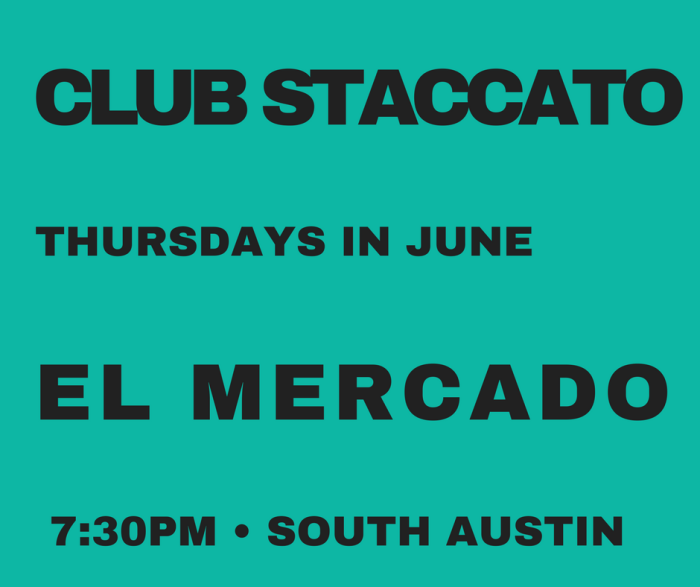 club staccato THURSDAYS IN JUNE green